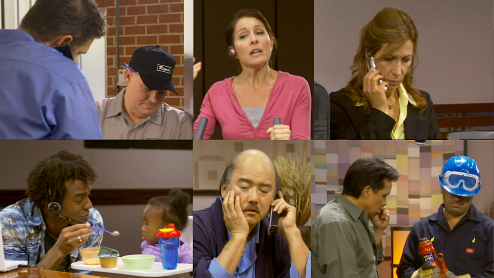 On a conference call, everyone is in their own world